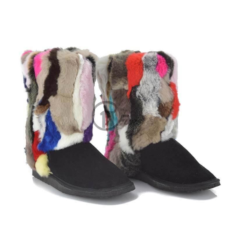 0e4e1d1ddd Γούνινη μπότα Rex και δέρμα μουτόν γυναικεία - Papastergiou Furs
